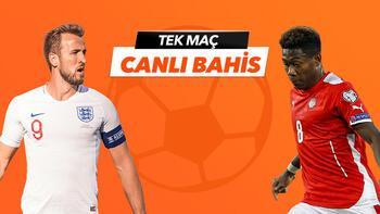 İngiltere - Avusturyamaçı Tek Maç ve Canlı Bahis seçenekleriyle Misli.com'da