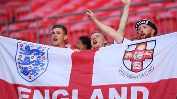 İngiltere - Hırvatistan maçından kareler!