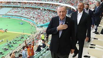 Son dakika - Cumhurbaşkanı Erdoğan, Bakü Olimpiyat Stadı'nda!