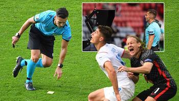 Son dakika - EURO 2020'ye damga vuran VAR kararı! Vida, Lovren çıldırdı