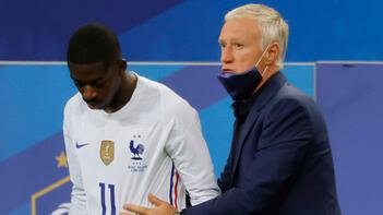 Fransa Milli Takımı'nda sakatlanan Dembele, EURO 2020'nin geri kalanında forma giyemeyecek