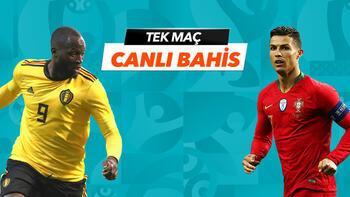 Belçika - Portekiz maçı Tek Maç ve Canlı Bahis seçenekleriyle Misli.com'da