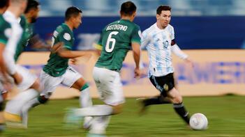 Copa America'da Arjantin'den Bolivya'ya 4 gol