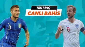 İtalya-İngiltere Finali Tek Maç ve Canlı Bahis seçenekleriyle Misli.com'da!