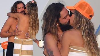 Heidi Klum-Tom Kaulitz güvertede aşka geldi