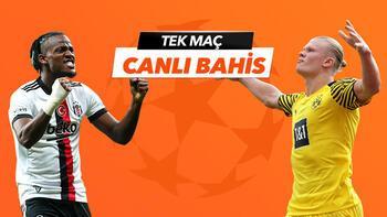 Beşiktaş - Borussia Dortmund maçı Tek Maç ve Canlı Bahis seçenekleriyle Misli.com'da