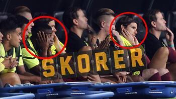 Son dakika - Dortmundda futbolcular, Beşiktaş taraftarlarına direnemedi Kulaklarını tıkadı