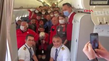 Son dakika - Ampute Milli Futbol Takımı'na uçakta anons jesti