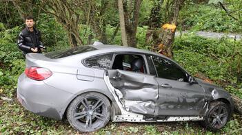 Bolusporlu futbolcular ölümden döndü! Ağaç kütüğü hayat kurtardı