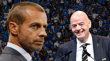 Son dakika haberleri: Dünya futbolunda kriz devam ediyor UEFAdan FIFAya bir rest daha