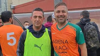 Fenerbahçeli ve Alanyasporlu yöneticiler Dereağzında maç yaptı
