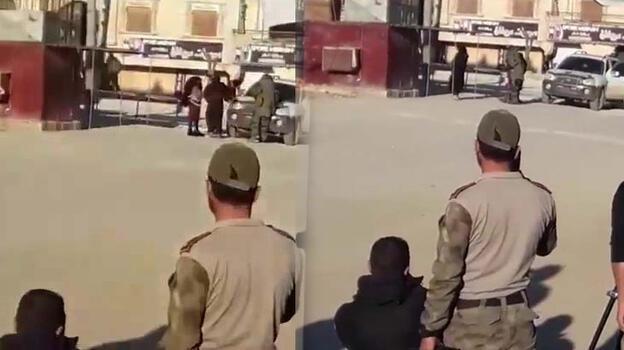 Afrin'de iki kadın terörist, eylem öncesi bombalarla yakalandı
