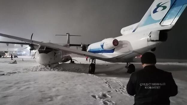 Rusya'da iki uçak pistte çarpıştı