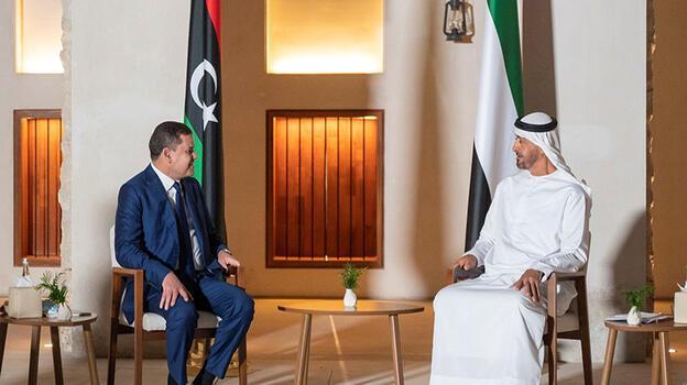 Libya Başbakanı Birleşik Arap Emirlikleri'nde Veliaht Prens Nahyan'la görüştü