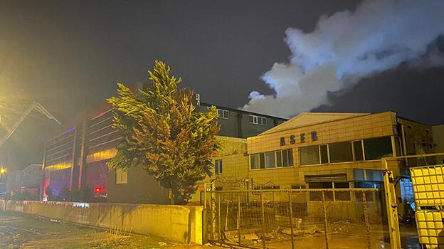 Bursa'da korkutan fabrika yangını! Ekipler oraya koştı