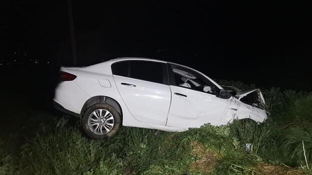 Otomobil şarampole devrildi: 1 ağır yaralı