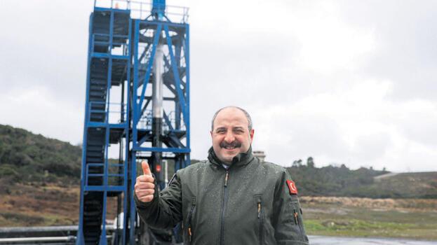 'Ay roketinde test başarılı'