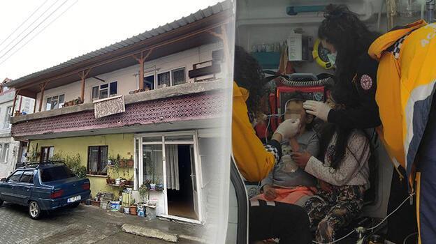 Sakarya'da sobadan sızan gazdan etkilenen anne ile 3 çocuğu hastaneye kaldırıldı