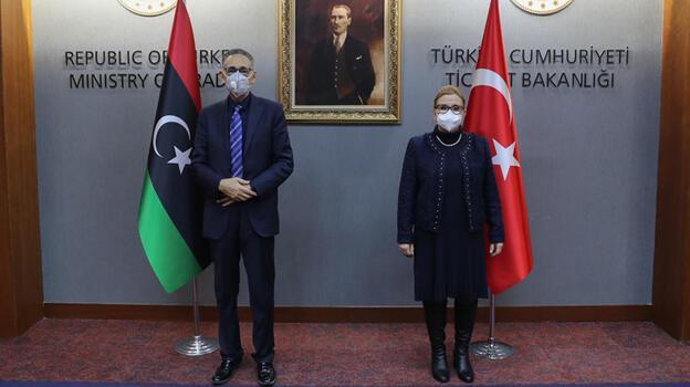 Bakan Pekcan, Libyalı mevkidaşlarıyla görüştü
