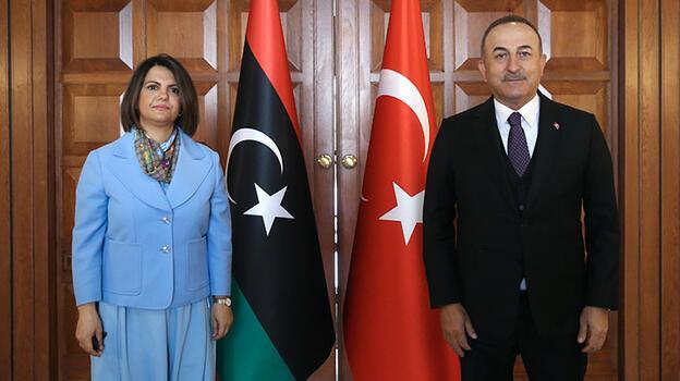 Dışişleri Bakanı Çavuşoğlu, Libyalı mevkidaşı Menguş'la bir araya geldi