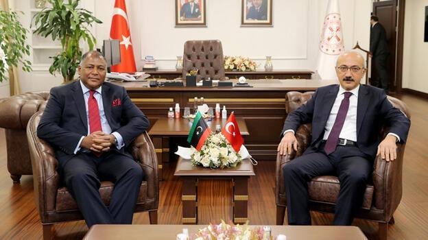 Hazine ve Maliye Bakanı Elvan, Libyalı mevkidaşı ile görüştü