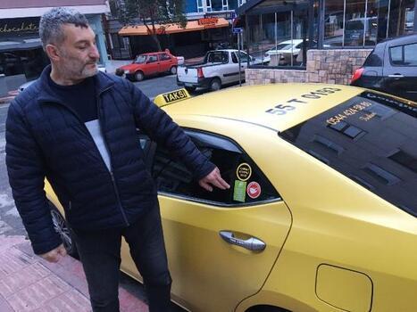 Samsunlu taksiciden salgına kabinli önlem