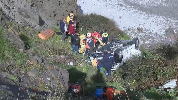 Son dakika: İstanbul'da feci kaza! Uçurumdan aşağı yuvarlandı