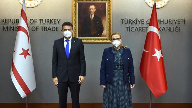 Bakan Pekcan, KKTC Maliye Bakanı Oğuz ile görüştü