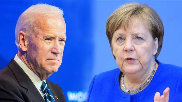 Biden-Merkel görüşmesinde 'Ukrayna'nın toprak bütünlüğüne destek' vurgusu