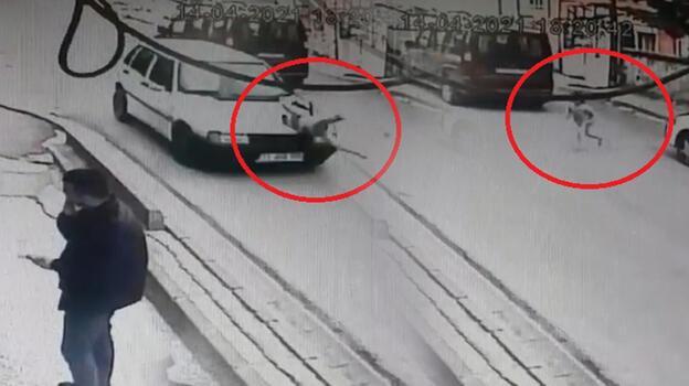 Kırıkkale'de korku dolu anlar! Küçük kıza otomobil çarptı