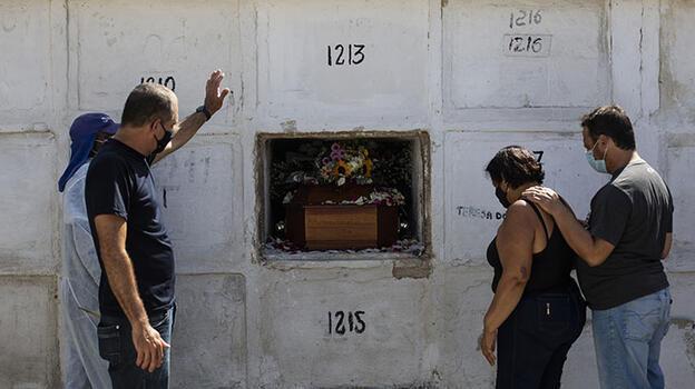 Brezilya'da son 24 saatte Kovid-19'dan 3 bin 560 kişi hayatını kaybetti