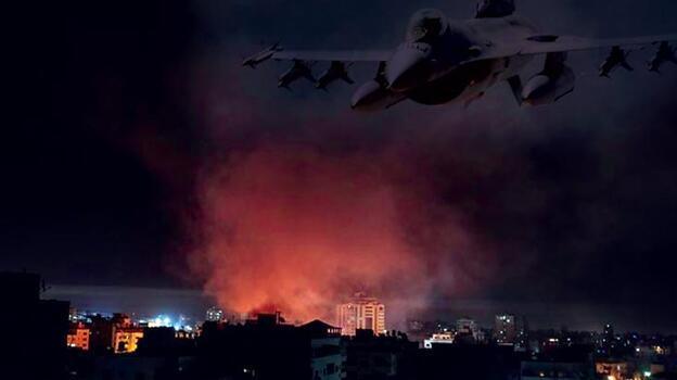 Son dakika: İsrail'den Gazze Şeridi'ne hava saldırısı