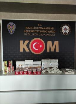 Aydın'da kaçak sigara operasyonu: 2 gözaltı