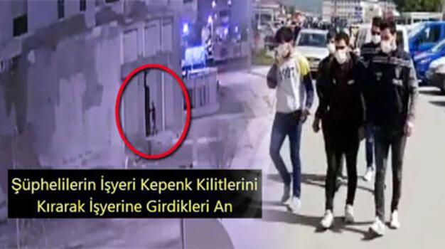 Kameradan belirlenen 3 hırsızlık şüphelisi tutuklandı