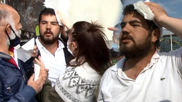 Taksim'de gerginlik! Bir seyyar satıcı başından yaraladı