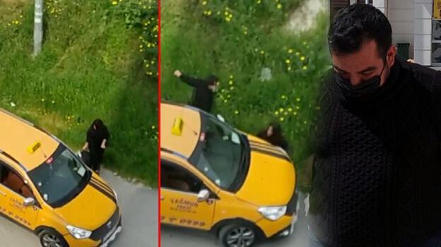 Aracıyla evden ayrılan kız kardeşine çarpan taksici, adliyeye sevk edildi