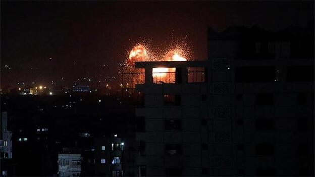 İsrail ordusundan Gazze'ye hava saldırısı