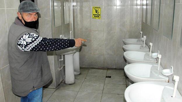Kayseri'de caminin 25 musluğu çalındı
