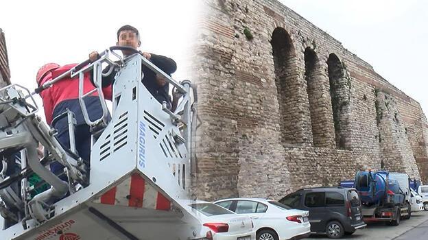 Son dakika... İstanbul'da tarihi surlarda hareketli anlar! 5 çocuk kurtarıldı