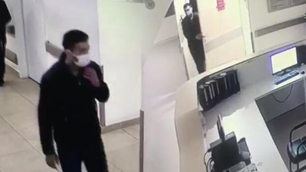 Şişli'de özel hastanede hırsızlık yapan şüpheli kamerada