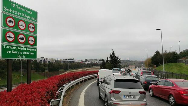 İstanbul'da köprü trafiği
