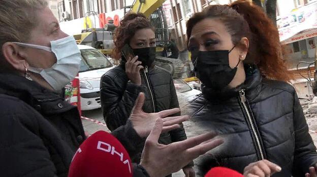 Yıkılan binanın yanındaki apartmanda yaşayanlar isyan etti! 'Sallanıyoruz'
