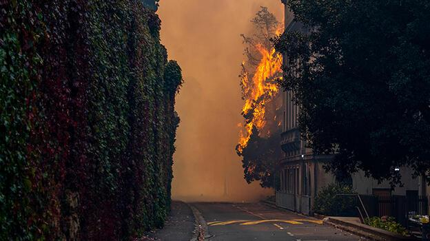 Yangın Cape Town Üniversitesi'ne sıçradı, 4 bin öğrenci tahliye edildi