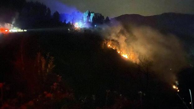 Son dakika: Rize'de korkutan orman yangını