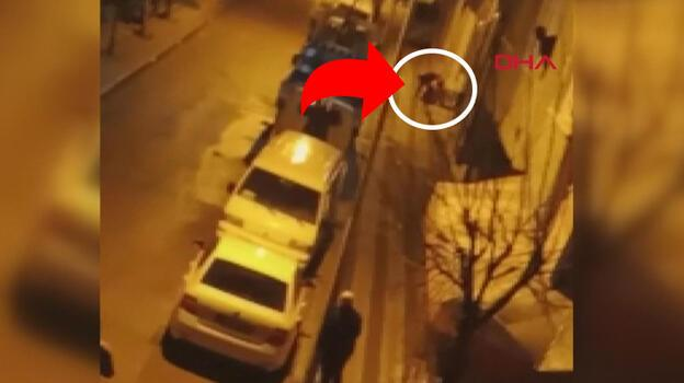 Sokak ortasında bir kadın dehşeti yaşadı! Böyle izlediler