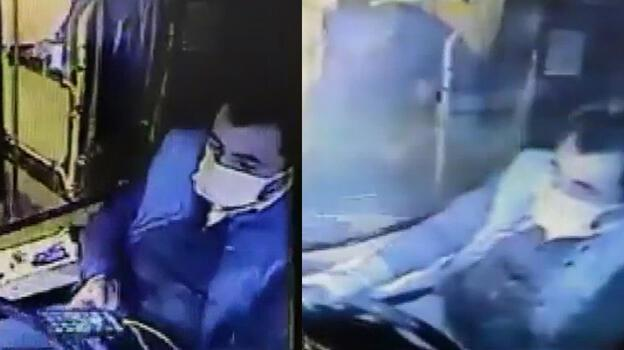 Beşiktaş'taki otobüs kazası kamerada! Şoför telefonla oynuyordu