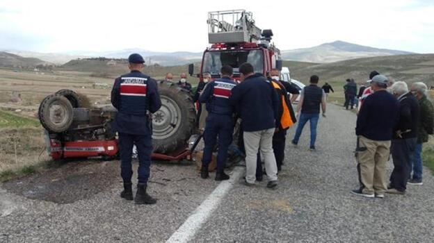 Kayseri'de devrilen traktörün sürücüsü öldü