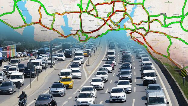 İstanbul kıpkırmızı! 82 saatlik kısıtlama öncesi trafik kilit