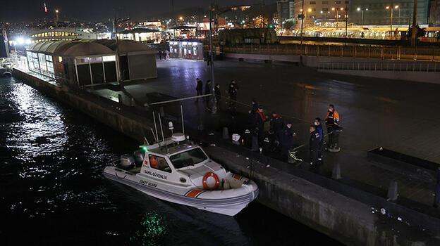 Galata Köprüsü'nden denize itilen kişi boğuldu!