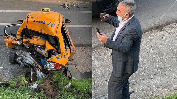 Kaza yerine geldi, arkadaşının aracını gördü! Ağladı...